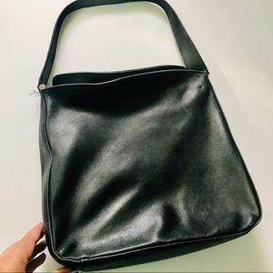 Vintage Coach Hobo Shoulder Bag Black Grey